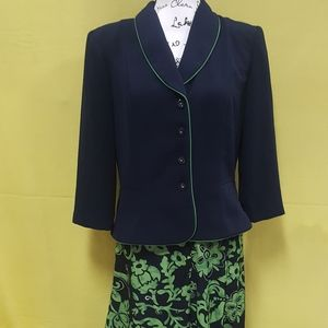 Vintage Women's Julian Taylor Two Piece BlackSuit